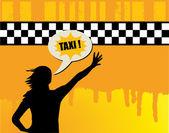 Taxi abstract — Stock Vector
