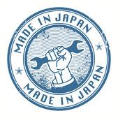 Hecho en sello de japón — Vector de stock