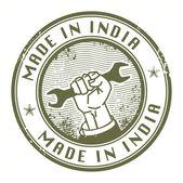 Fatto nel timbro india — Vettoriale Stock