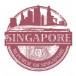 Singapore stamp — Stock Vector