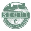 Seoul, South Korea stamp — Stock Vector