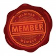 Member stamp — Stock Vector