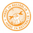 Made in Australia stamp - Stock Vector