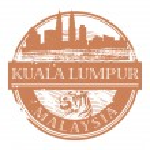 Kuala Lumpur, Malaysia stamp — Stock Vector