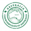 Australia stamp — Stock Vector