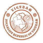 Vietnam stamp — Stock Vector