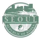Seoul, South Korea stamp — Stock Vector
