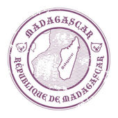 Madagascar stamp — Stock Vector