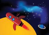 Rocket fly — Stock Vector