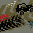 Stockvector : Off Road Car abstract