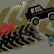Vector de stock : Off Road Car abstract