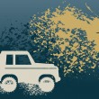 Off Road Car abstract — Image vectorielle