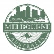 Melbourne, Australia stamp — Stock Vector