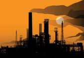 öl-raffinerie-fabrik — Stockvektor