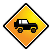 Off-road sign — Stock Vector