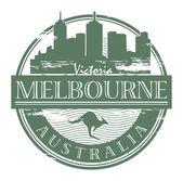 Melbourne, sello de australia — Vector de stock