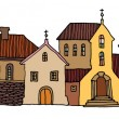 Stockvektor : Hand Drawn houses