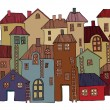 Stock Vector: Hand Drawn houses