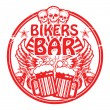 Stock Vector: Bikers Bar stamp