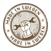 Made in Sweden stamp — Stock Vector