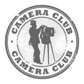 カメラ クラブ スタンプ — ストックベクタ