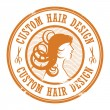 Stamp Custom Hair Design — Stock Vector