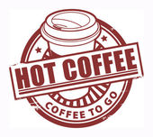 Hot Coffee stamp — Stock Vector