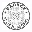 Garage grunge stamp — Stock Vector