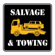 Car salvage sign - Stock Vector