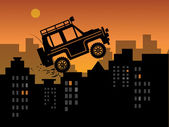 Off-road in urban — Stock Vector