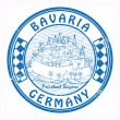 Bavaria, Germany stamp — Stok Vektör