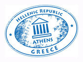 Athens, Greece stamp — Stock Vector