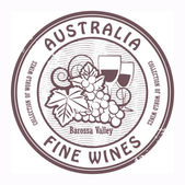 Australia, Fine Wines stamp — Stock Vector