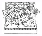 Garden — Stock Vector
