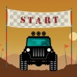 Off-road race start, — Stock Vector #21285867