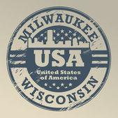 Wisconsin, Milwaukee stamp — Stock Vector