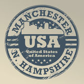 New Hampshire, Manchester stamp — Stock Vector