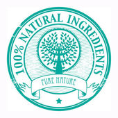 Natural Ingredients stamp — Stock Vector