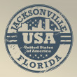 Florida, Jacksonville stamp — Stock Vector