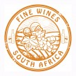 Stock Vector: South Africa, Fine Wines stamp