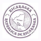Nicaragua stamp — Stock Vector