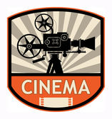 Cinema label — Stock Vector