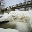 River dam in winter — Stock Photo #21632053
