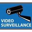 Video surveillance — Stock Vector