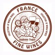 France, Fine Wines stamp — Stock Vector #21707019