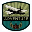 Adventure label — Vector de stock #21707191
