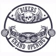Stock Vector: Bikers Grand Opening stamp