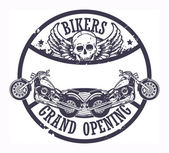 Bikers Grand Opening stamp — Stock Vector