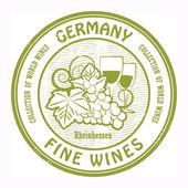 Germany, Fine Wines stamp — Stock Vector