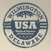 Delaware, Wilmington stamp — Stock Vector